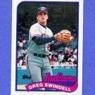 1989 Topps Baseball #315 Greg Swindell - Cleveland Indians