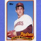 1989 Topps Baseball #307 Lance McCullers - San Diego Padres