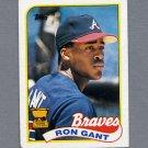 1989 Topps Baseball #296 Ron Gant - Atlanta Braves VgEx