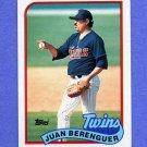 1989 Topps Baseball #294 Juan Berenguer - Minnesota Twins
