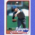 1989 Topps Baseball #276 Paul Kilgus - Texas Rangers NM-M