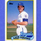 1989 Topps Baseball #266 Luis Aquino - Kansas City Royals