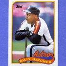 1989 Topps Baseball #252 Billy Hatcher - Houston Astros