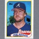 1989 Topps Baseball #244 Jim Acker - Atlanta Braves Ex