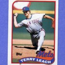 1989 Topps Baseball #207 Terry Leach - New York Mets