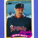 1989 Topps Baseball #190 Mike Witt - California Angels