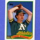 1989 Topps Baseball #174 Todd Burns - Oakland A's