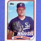 1989 Topps Baseball #162 John Davis - Chicago White Sox