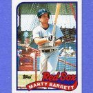 1989 Topps Baseball #155 Marty Barrett - Boston Red Sox