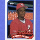 1989 Topps Baseball #132 Curt Ford - St. Louis Cardinals NM-M