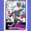1989 Topps Baseball #106 Willie Upshaw - Cleveland Indians