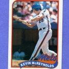 1989 Topps Baseball #085 Kevin McReynolds - New York Mets