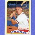 1989 Topps Baseball #083 Jeff Blauser - Atlanta Braves