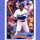 1989 Topps Baseball #062 Alfredo Griffin - Los Angeles Dodgers NM-M
