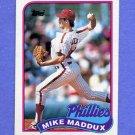 1989 Topps Baseball #039 Mike Maddux - Philadelphia Phillies ExMt
