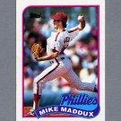 1989 Topps Baseball #039 Mike Maddux - Philadelphia Phillies Ex