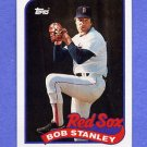 1989 Topps Baseball #037 Bob Stanley - Boston Red Sox