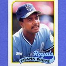 1989 Topps Baseball #025 Frank White - Kansas City Royals