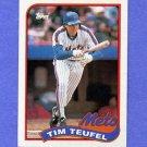 1989 Topps Baseball #009 Tim Teufel - New York Mets