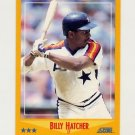 1988 Score Baseball #505 Billy Hatcher - Houston Astros