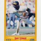 1988 Score Baseball #458 Dave Stewart - Oakland A's