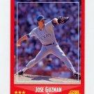 1988 Score Baseball #322 Jose Guzman - Texas Rangers