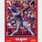 1988 Score Baseball #236 Bob Brower - Texas Rangers
