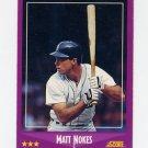 1988 Score Baseball #015 Matt Nokes RC - Detroit Tigers