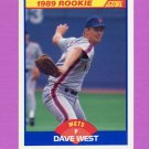 1989 Score Baseball #650 Dave West RC - New York Mets