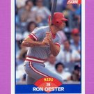 1989 Score Baseball #615 Ron Oester - Cincinnati Reds