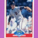 1989 Score Baseball #500 Mike LaCoss - San Francisco Giants