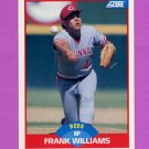 1989 Score Baseball #485 Frank Williams - Cincinnati Reds