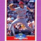 1989 Score Baseball #454 Tim Birtsas - Cincinnati Reds