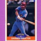 1989 Score Baseball #413 Darren Daulton - Philadelphia Phillies