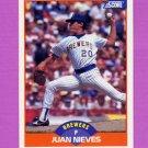 1989 Score Baseball #410 Juan Nieves - Milwaukee Brewers