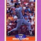 1989 Score Baseball #408 Brian Harper - Minnesota Twins