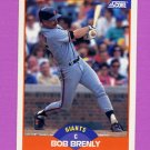 1989 Score Baseball #395 Bob Brenly - San Francisco Giants