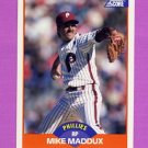 1989 Score Baseball #393 Mike Maddux - Philadelphia Phillies