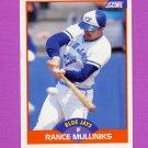 1989 Score Baseball #385 Rance Mulliniks - Toronto Blue Jays