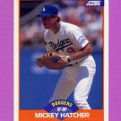 1989 Score Baseball #332 Mickey Hatcher - Los Angeles Dodgers