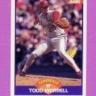 1989 Score Baseball #265 Todd Worrell - St. Louis Cardinals