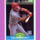 1989 Score Baseball #184 Tom Brunansky - St. Louis Cardinals