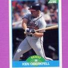 1989 Score Baseball #139 Ken Oberkfell - Atlanta Braves