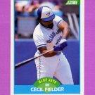 1989 Score Baseball #120 Cecil Fielder - Toronto Blue Jays