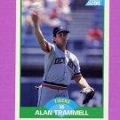 1989 Score Baseball #110 Alan Trammell - Detroit Tigers