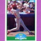 1989 Score Baseball #109 Eric Davis - Cincinnati Reds