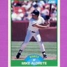 1989 Score Baseball #082 Mike Aldrete - San Francisco Giants