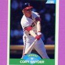 1989 Score Baseball #052 Cory Snyder - Cleveland Indians