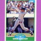 1989 Score Baseball #037 Greg Walker - Chicago White Sox