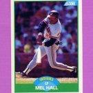 1989 Score Baseball #017 Mel Hall - Cleveland Indians